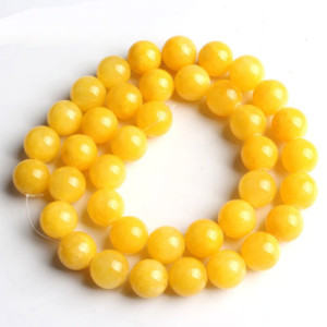 yellow natural stone beads